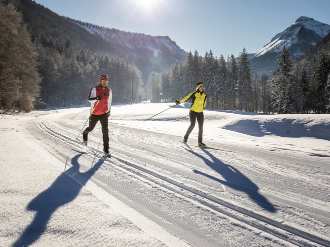 Cross country skiing in Salzkammergut