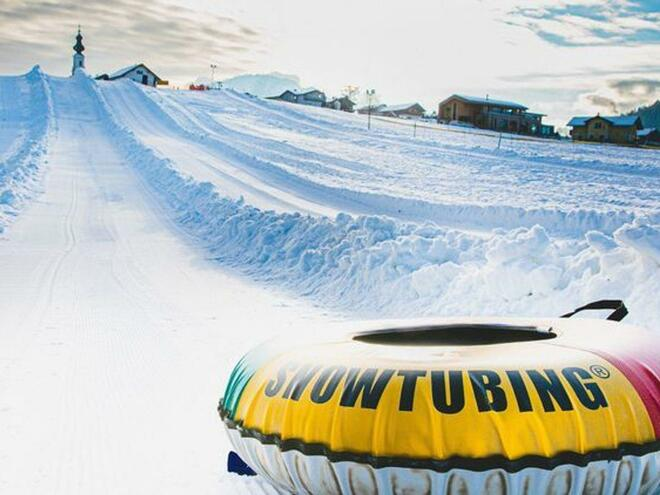 Panoramabild Snowtubing
