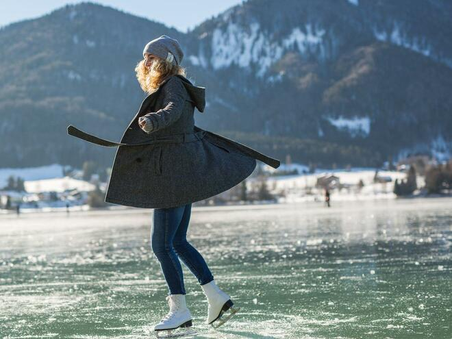 Natural Ice Rink in Fuschl am See