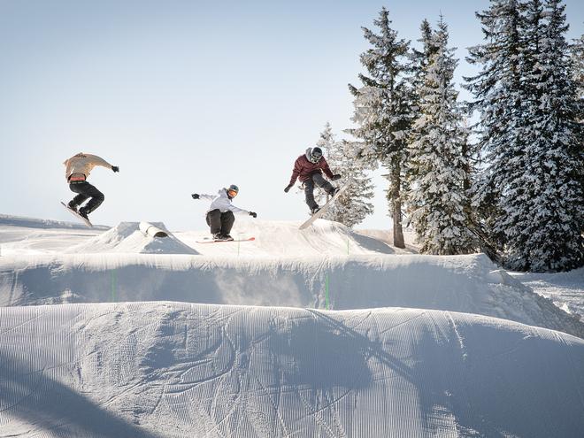 Freestyle-Park im Schigebiet Kasberg