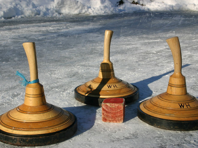 Ice stick curling Fuschl am Se