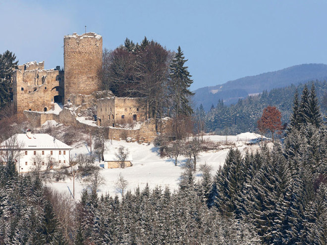 Prandegg Castle in Ruins