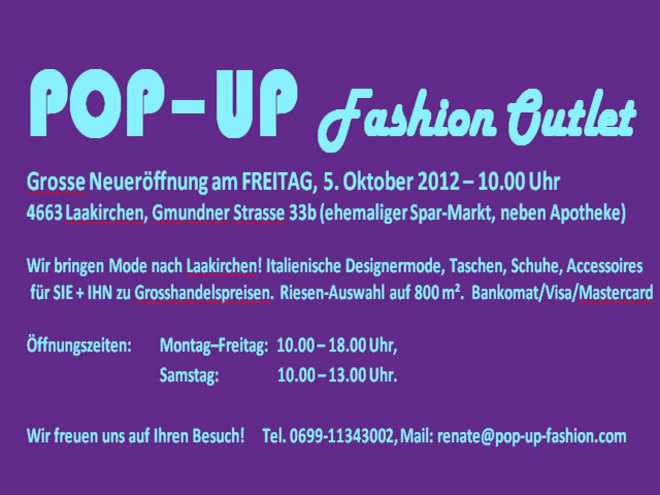 POP-UP-Fashion Outlet