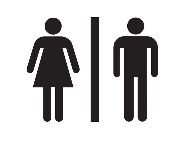Öffentliche Toilette im Besucherzentrum der Salzwelten Hallstatt}