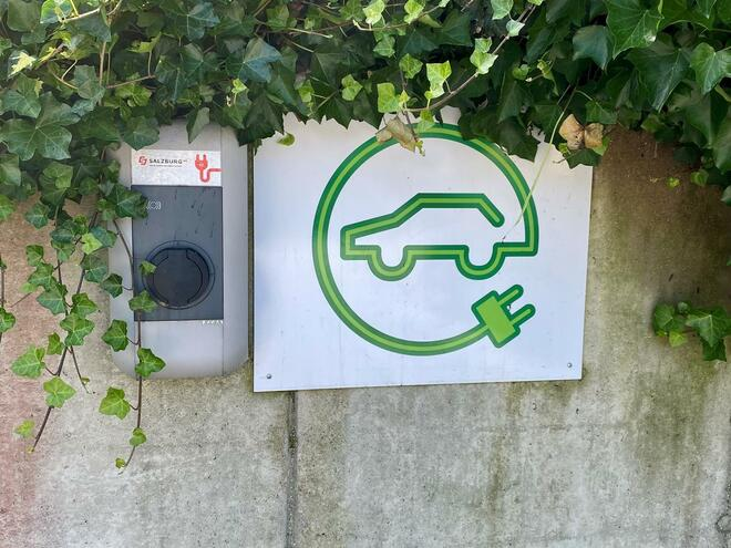 Charging station for electric cars in Fuschl am See