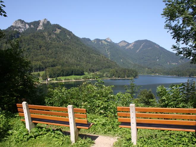 Meadow path near the Schwarzensee