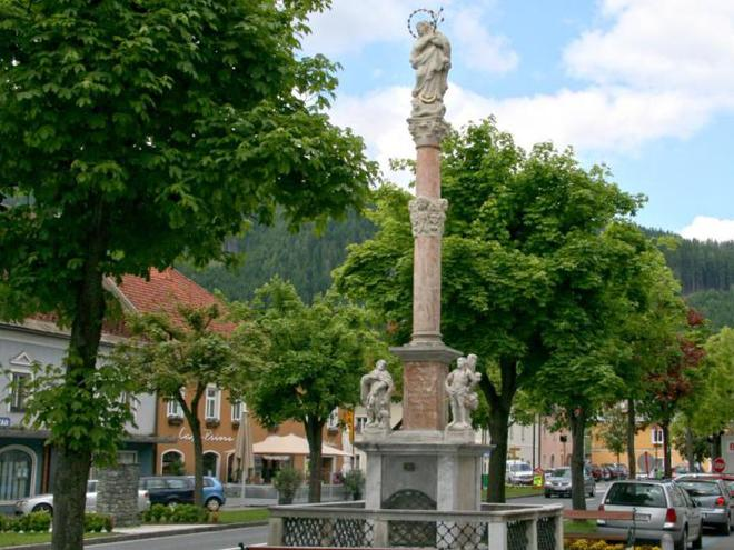 Pestsäule in St. Leonhard im Lavanttal