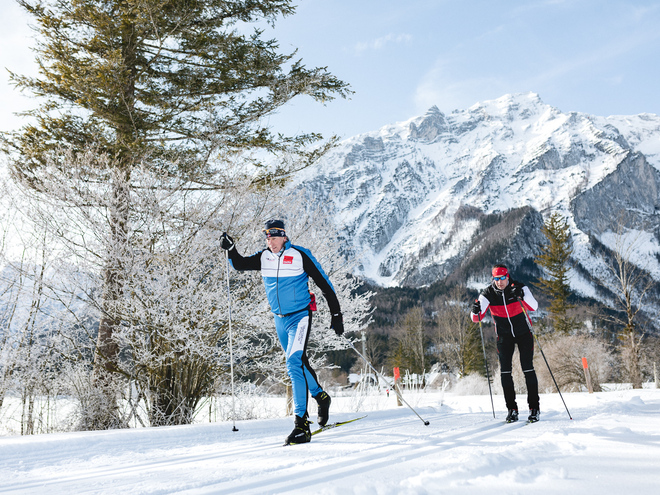 Competitie parcours bruin - biatlon en cross-country arena Pyhrn-Priel - Rosenau am Hengstpass