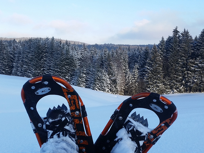 Snowshoe hiking tour to Irrsberg