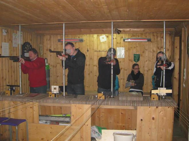 Traditional Martini shooting of the sport shooters
