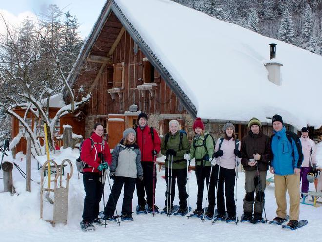 Guided 2 days snowshoe hiking tour