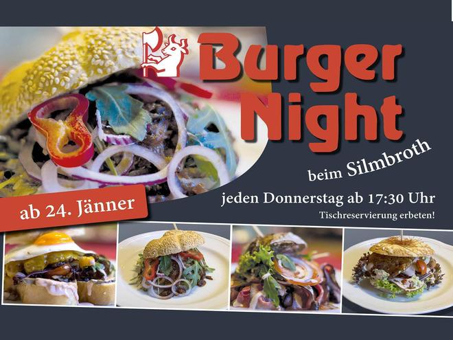 Burger Night beim Gasthaus Fleischerei Silmbroth