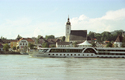 Grein Blick auf Donau mit Schiff | © TTG Tourismus Technologie