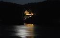 Faustschlössel bei Vollmond mit Donau im Vordergrund   © Hermann Baumgartner