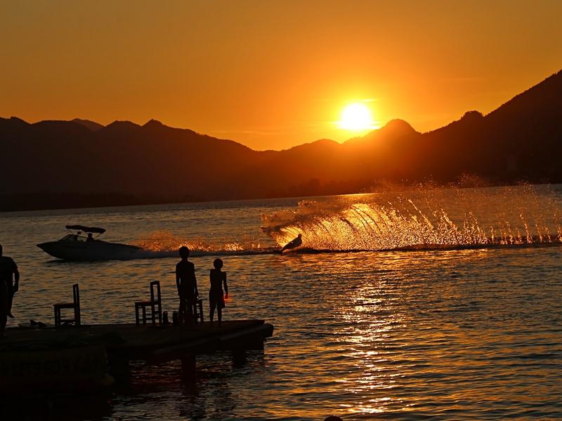Wasserskishow am Wolfgangsee