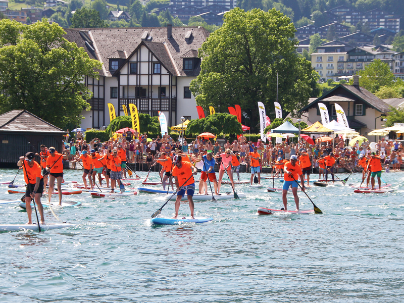 Legend of Ox Stand Up Paddel Race am Wolfgangsee