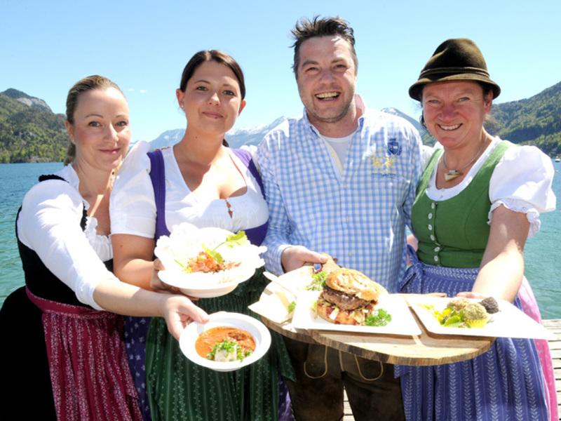 Trachtig kulinarisch bei uns am Wolfgangsee