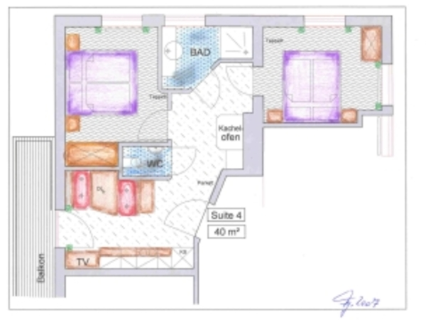 Grundriss Suite 4
