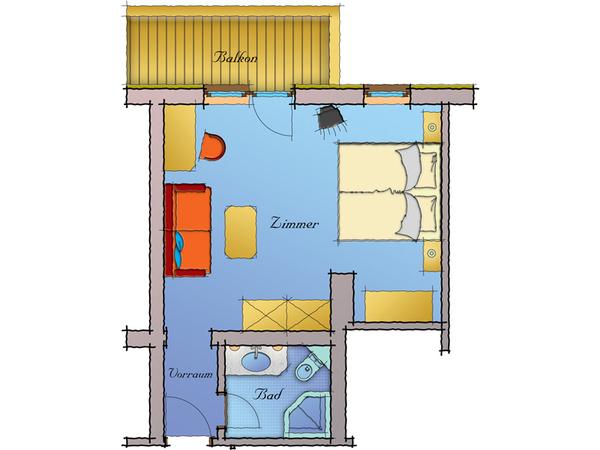 Wohnkomfortzimmer Spieljoch - Grundriss 2
