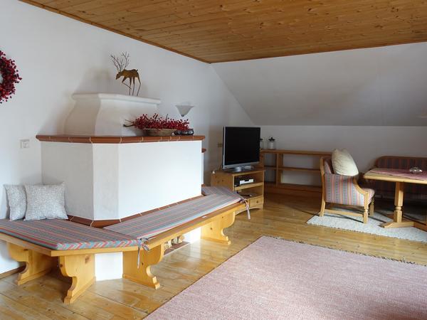 Ofenbank im Wohnzimmer