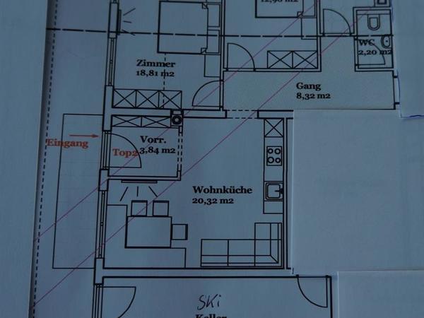 Grundriss Apartment Penken
