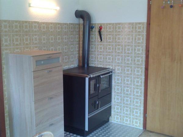 Wohnküche mit neuen Holzherd