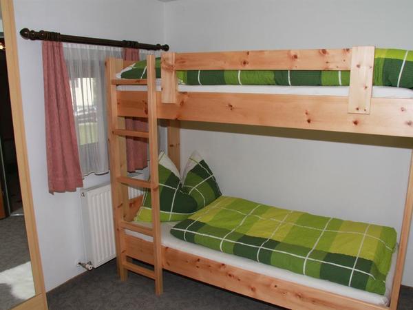 Etagenbetten, Zirbenbetten, 2 Schlafräume