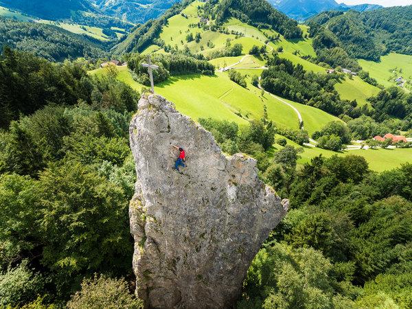Klettern im Ennstal