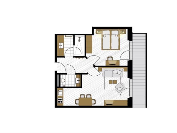 Apartment Schneequarz