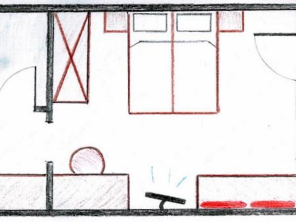 Grundriss Comfort-Doppelzimmer `Schneestern`