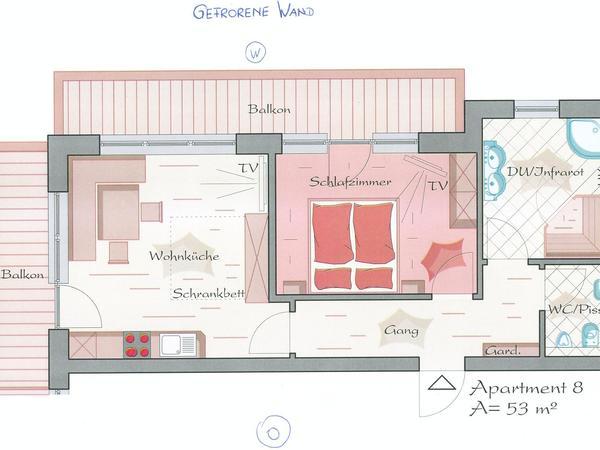 Komfort Apartment `Gefrorene Wand`