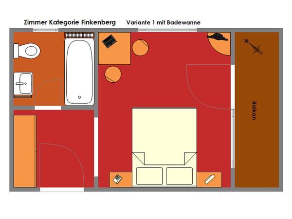 Grundriss Kat. `Finkenberg`
