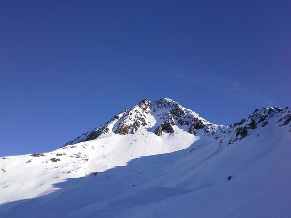 Berge, Sonne, Winter
