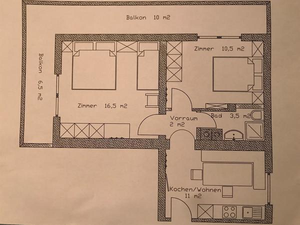 Skizze Wohnung MANUEL