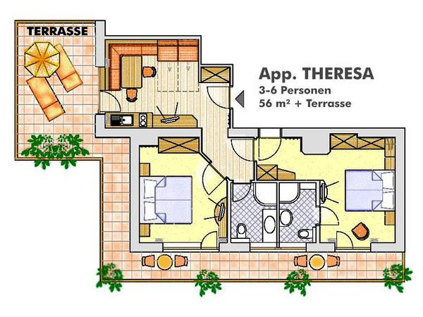 Appartement Theresa Grundriss