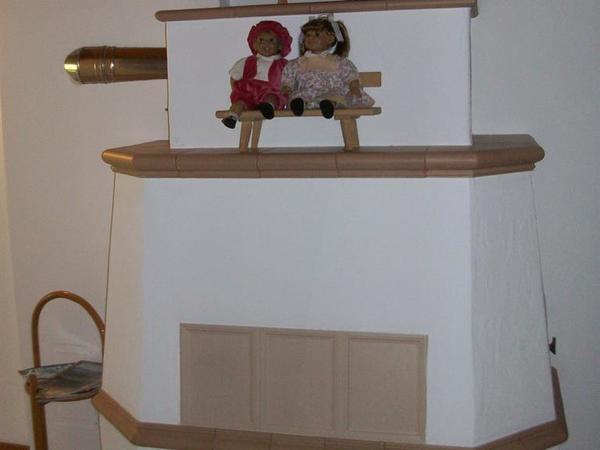 Ofen im Eingangsbereich der Wohnung