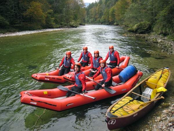 Canoe Trip on the Steyr River - Whitewater for Beginners