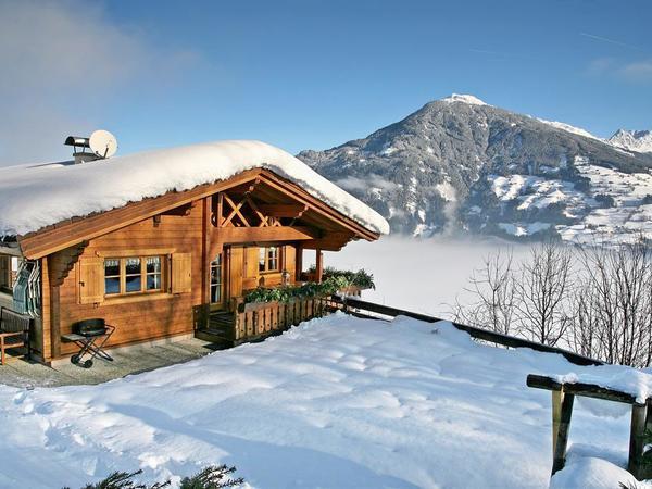 Hütte im Skigebiet