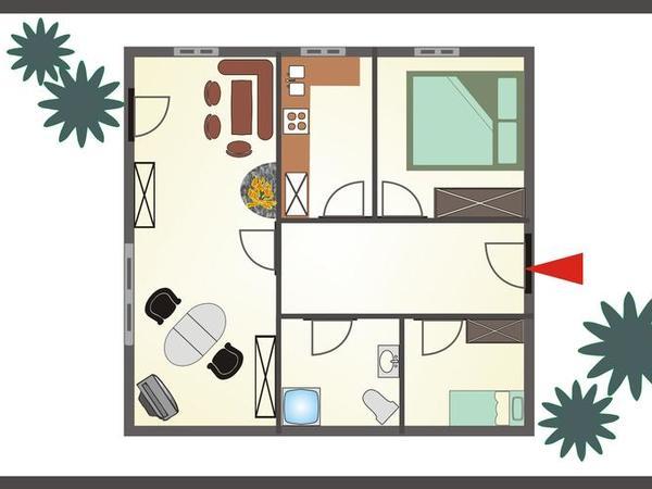 Plan Wohnung `Sabine`