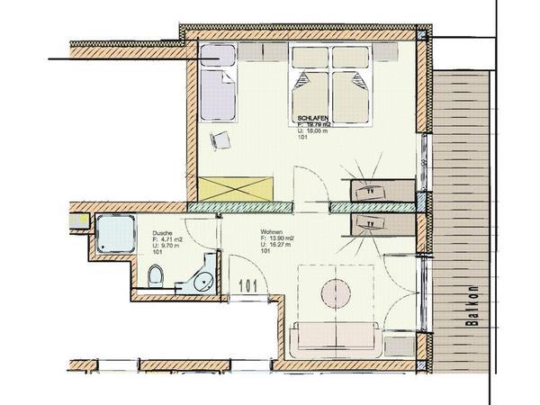 Grundriss Inntal Suite