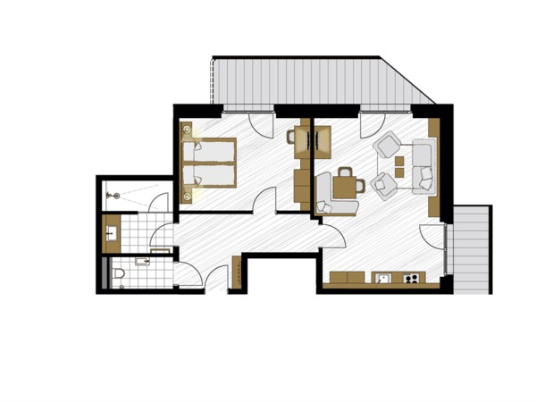 Apartment Rauchquarz Nr. 1