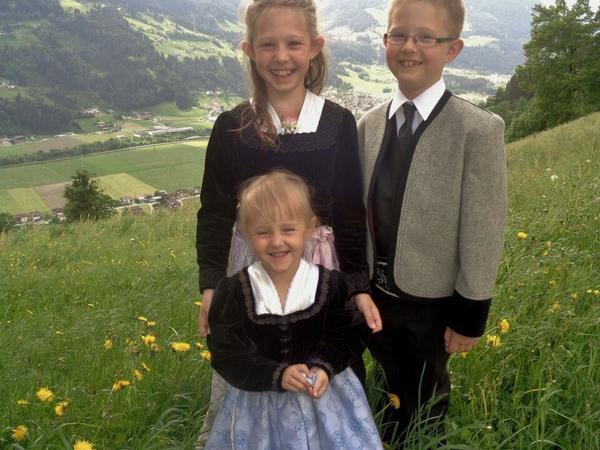 Unsere Kinder Lisa, Georg und Carina