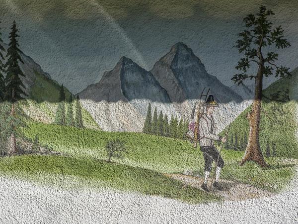 Haus Wiesengrund - Wandbild