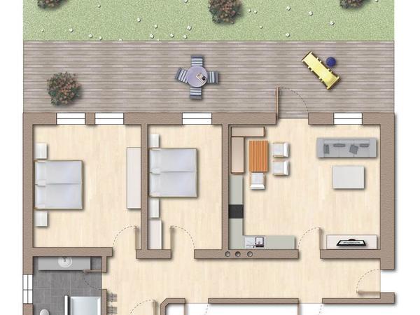 Apartment Kreidl Grundriss