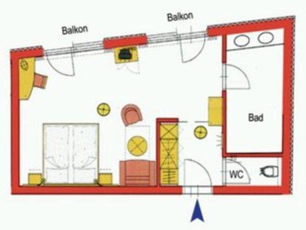 Grundriss Suite B