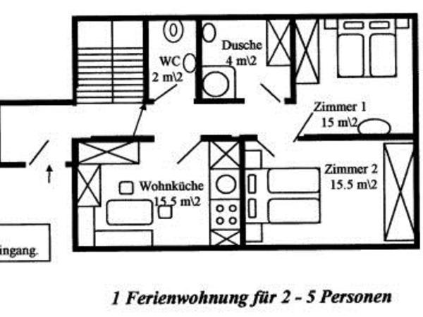 Haus Bergruh Ferienw.-Grundriss