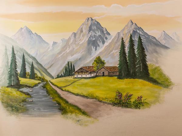 Haus Wiesengrund - Wandbild1
