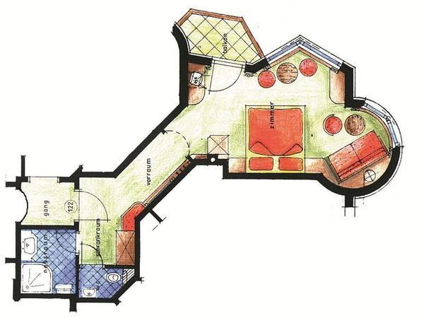 Beispielskizze Doppelzimmer `Deluxe`