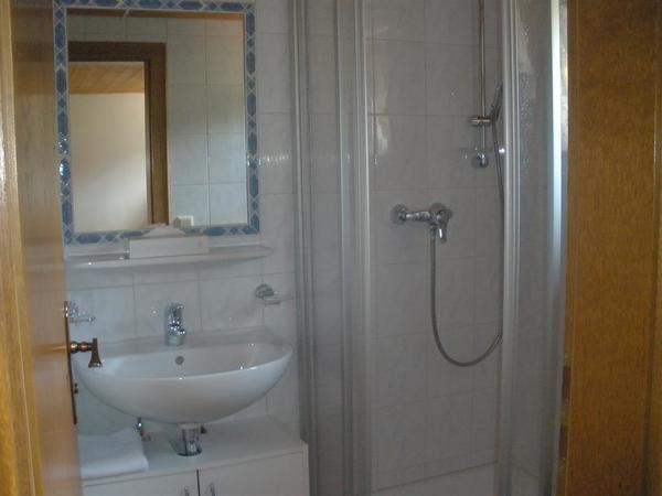 Dusche/WC (Föhn, Kosmetiktücher, Seife)
