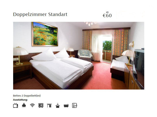 Doppelzimmer Standard (© Hotel Attersee, Fam. Conti)